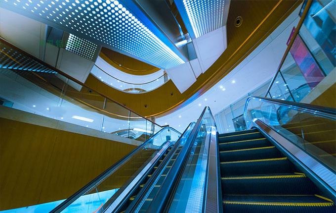 商场 冲孔铝单板 弧形方通 铝